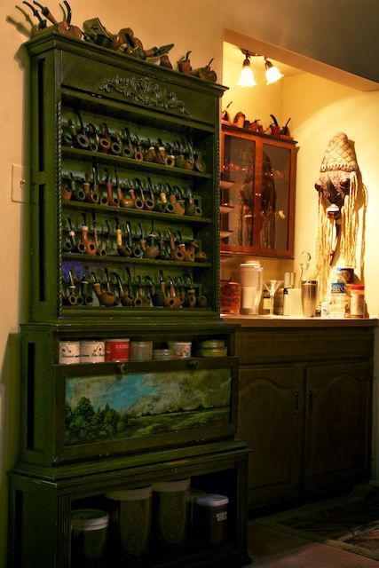 Tobacco Pipe Cabinet